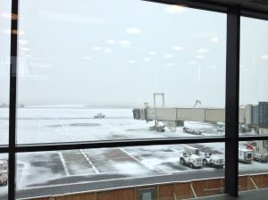 Lovely weather at the Ottawa Airport before I left