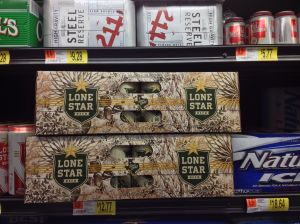 Texas, where even the beer wears camo.