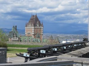 Chateau Frontenac as seen from the Citadelle