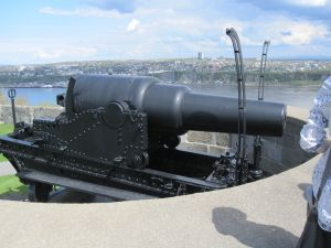 The largest cannon at the Citadelle.  It's pointed south down the St. Lawrence river because that's where they thought the Americans would attack from. ;)