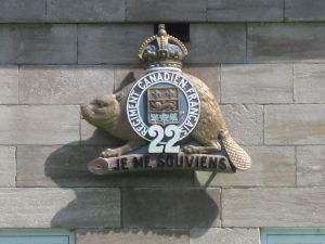 The seal of the 22nd Regiment, the only French-language only regiment in the Canadian Army