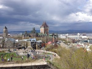 The Chateau Frontenac and old town as seen from the Citadelle