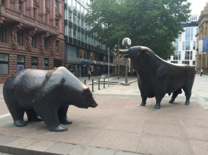 The Bull and Bear outside of Frankfurt's stock market