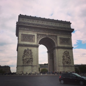 The Arc de Triomphe in Paris